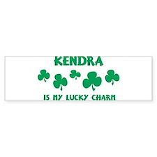 Kendra is my lucky charm Bumper Bumper Sticker