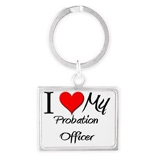 Probation-Officer80 Landscape Keychain