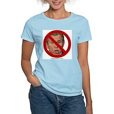 Anti Bush Women's Pink T-Shirt