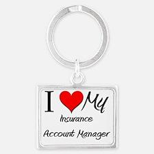 Insurance-Account-Ma35 Landscape Keychain
