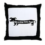 Get A Long Little Doggie Throw Pillow