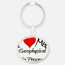 Geophysical-Data-Pro104 Oval Keychain