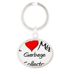 Garbage-Collector148 Oval Keychain
