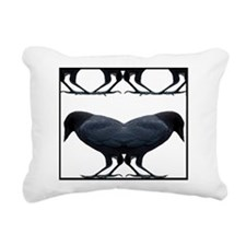 Crow Lover Rectangular Canvas Pillow