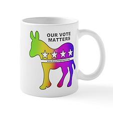 Rainbow Donkey Vote Mug