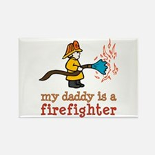 My Daddy is a Firefighter Rectangle Magnet
