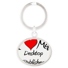 Desktop-Publisher65 Oval Keychain