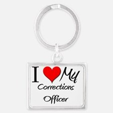 Corrections-Officer119 Landscape Keychain