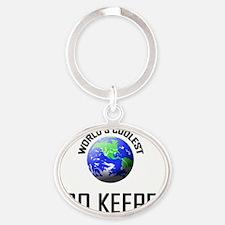 ZOO-KEEPER142 Oval Keychain