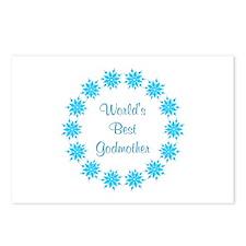 World's Best Godmother (lt blue wreath) Postcards