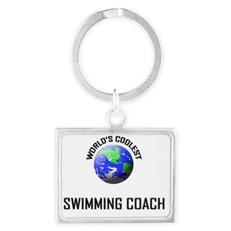SWIMMING-COACH99 Landscape Keychain