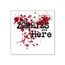 "Zombies Square Sticker 3"" x 3"""