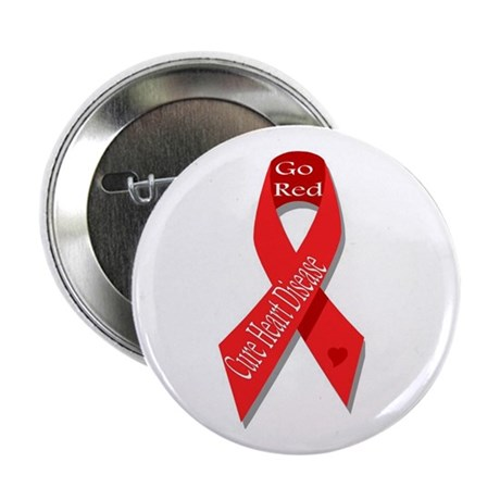 Cure Heart Disease (Go Red) Button