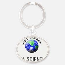 SOIL-SCIENTIST115 Oval Keychain