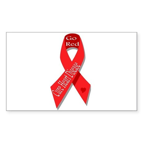 Cure Heart Disease (Go Red) Rectangle Sticker
