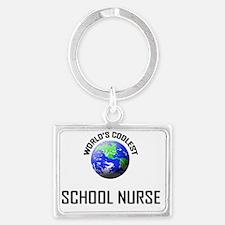 SCHOOL-NURSE135 Landscape Keychain