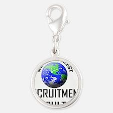 RECRUITMENT-CONSULTA123 Silver Round Charm