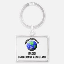 RADIO-BROADCAST-ASSI71 Landscape Keychain