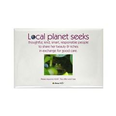 Local Planet & Frogs Rectangle Magnet (100 pack)