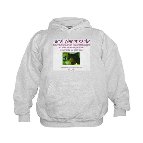Local Planet & Frogs Kids Hoodie
