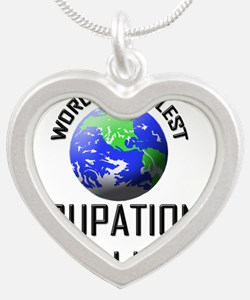 OCCUPATIONAL-HEALTH-21 Silver Heart Necklace
