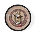 Celtic Owl Wall Clock