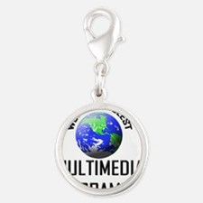 MULTIMEDIA-PROGRAMME146 Silver Round Charm