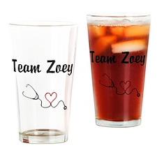 Team Zoey Drinking Glass