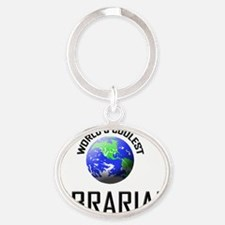 LIBRARIAN127 Oval Keychain