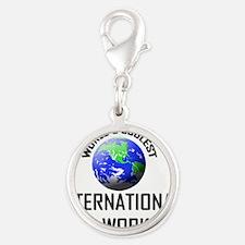 INTERNATIONAL-AID-WO79 Silver Round Charm