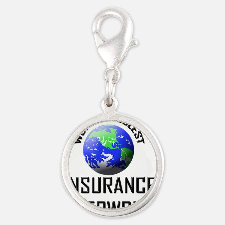 INSURANCE-UNDERWRITE34 Silver Round Charm