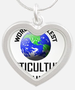 HORTICULTURAL-CONSUL27 Silver Heart Necklace