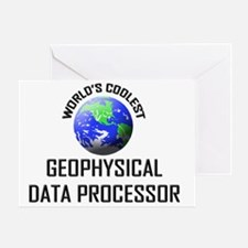 GEOPHYSICAL-DATA-PRO78 Greeting Card