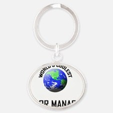 FLOOR-MANAGER54 Oval Keychain