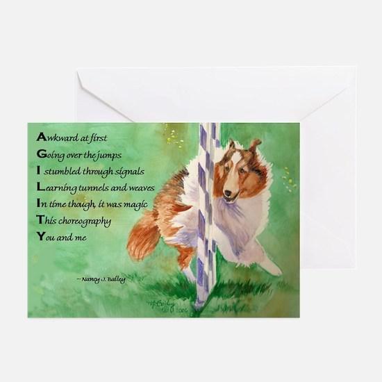 Sheltie Agility Poem Greeting Cards (Pk of 10)