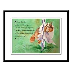 Sheltie Agility Poem Large Framed Print