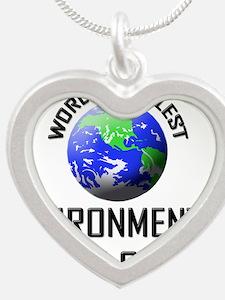 ENVIRONMENTAL-HEALTH103 Silver Heart Necklace