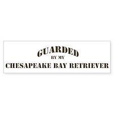 Chesapeake Bay Retriever: Gua Bumper Bumper Sticker