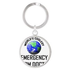 EMERGENCY-ROOM-DOCTO9 Round Keychain