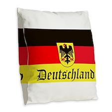 Deutschland Burlap Throw Pillow