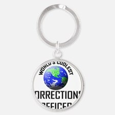CORRECTIONS-OFFICER61 Round Keychain