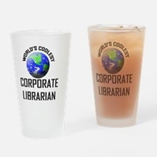 CORPORATE-LIBRARIAN73 Drinking Glass