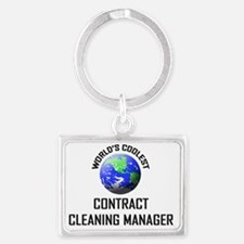 CONTRACT-CLEANING-MA78 Landscape Keychain