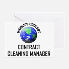 CONTRACT-CLEANING-MA78 Greeting Card