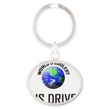 BUS-DRIVER108 Oval Keychain