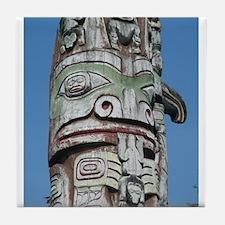 Haida Totem Pole II Tile Coaster