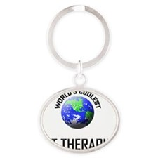 ART-THERAPIST63 Oval Keychain
