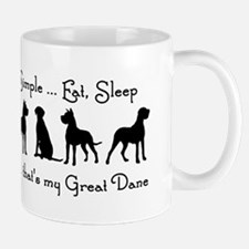 Life is Simple For Great Dane Dog Pet Humorous Sma