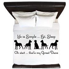 Life is Simple For Great Dane Dog Pet Humorous Kin