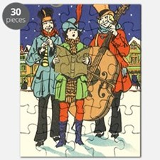 Vintage Christmas Carolers Puzzle